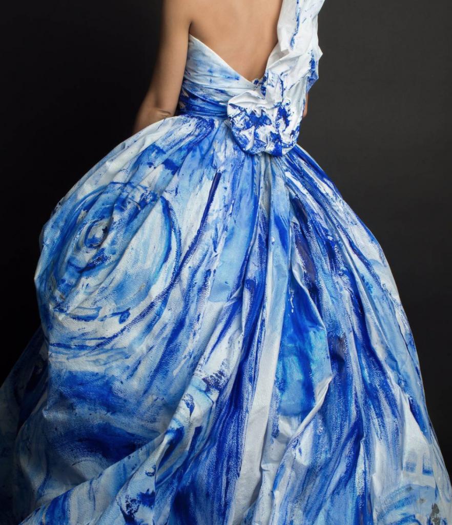 Blue Couture wedding dress