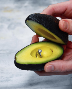 Avocado engagement ring