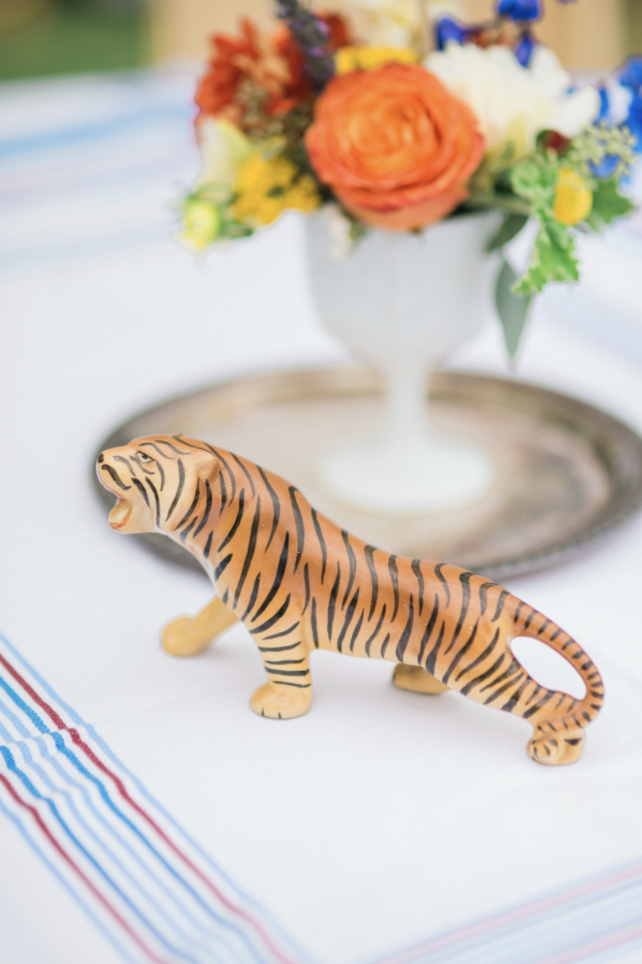 Tiger figurine wedding