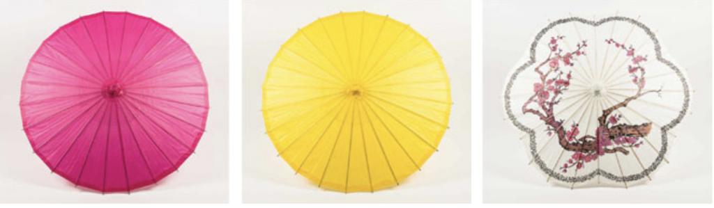 Paper lantern parasols