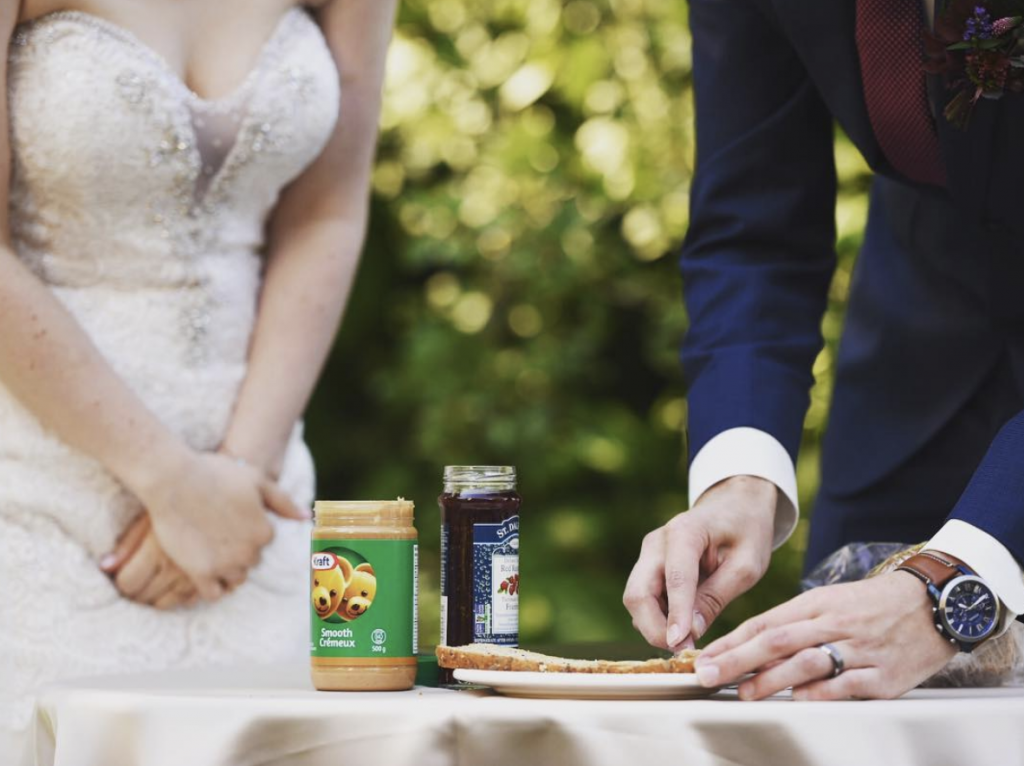 Peanut butter and jelly unity ceremony